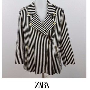 Zara | Striped moto jacket